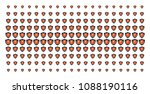 electric guard icon halftone... | Shutterstock .eps vector #1088190116