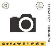 camera symbol icon   Shutterstock .eps vector #1088193596