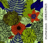 trendy floral pattern in the... | Shutterstock .eps vector #1088209025