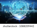 businesswoman on blurred... | Shutterstock . vector #1088209442
