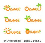 set of logos with a orange | Shutterstock .eps vector #1088214662