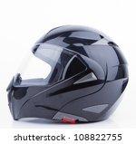 black  shiny motorcycle helmet... | Shutterstock . vector #108822755