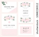 vector template set. wedding... | Shutterstock .eps vector #1088228312