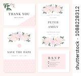 vector template set. wedding... | Shutterstock .eps vector #1088228312