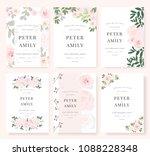 vector template set. wedding... | Shutterstock .eps vector #1088228348
