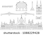budapest coloring book page   Shutterstock .eps vector #1088229428