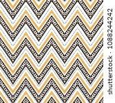 hand drawn golden seamless... | Shutterstock .eps vector #1088244242