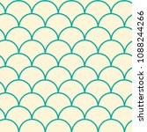 mermaid tail seamless pattern.... | Shutterstock .eps vector #1088244266