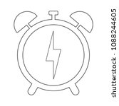 alarm clock with lightning...