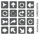 arrow vector icon set | Shutterstock .eps vector #1088246996
