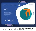 quality one page swift website... | Shutterstock .eps vector #1088257055