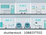 interior operation room with... | Shutterstock .eps vector #1088257532