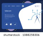 quality one page telecom... | Shutterstock .eps vector #1088258306