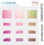 calendar polygonal symbol ... | Shutterstock .eps vector #1088264972