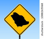 saudi arabia map road sign.... | Shutterstock .eps vector #1088265068