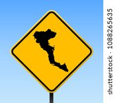 corfu map road sign. square... | Shutterstock .eps vector #1088265635