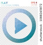 play circled2 polygonal symbol  ... | Shutterstock .eps vector #1088265872
