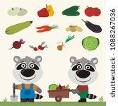 set of isolated vegetables ... | Shutterstock .eps vector #1088267036