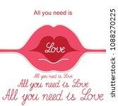 lips. kiss. mouth. love. gift...   Shutterstock .eps vector #1088270225