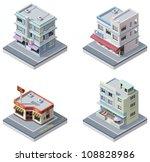 vector isometric art deco... | Shutterstock .eps vector #108828986