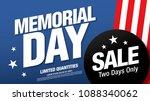memorial day sale banner layout ... | Shutterstock .eps vector #1088340062