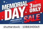 memorial day sale banner layout ... | Shutterstock .eps vector #1088340065