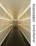 abstract hallway with colored... | Shutterstock . vector #1088343026