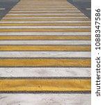 an empty pedestrian crossing... | Shutterstock . vector #1088347586