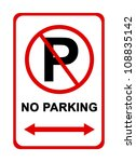 no parking sign for use in any... | Shutterstock . vector #108835142