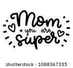happy mother's day postcard....   Shutterstock .eps vector #1088367335
