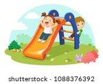 vector illustration of cute... | Shutterstock .eps vector #1088376392