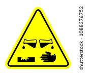 corrosive substance  vector... | Shutterstock .eps vector #1088376752