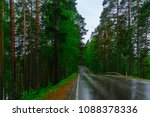 road and forest in the... | Shutterstock . vector #1088378336