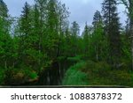 stream and forest along the... | Shutterstock . vector #1088378372