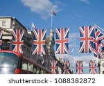 union jack flags in preperation ... | Shutterstock . vector #1088382872