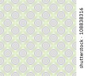 Seamless Lilac Rings on Pale Green/Digital abstract image with a seamless tiled concentric ring target design in lilac on a light green background. - stock photo