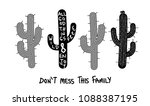 set of cactuses and text hand... | Shutterstock .eps vector #1088387195
