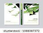 annual report 2017 book design... | Shutterstock .eps vector #1088387372