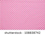 Pink And White  Spot Pattern...