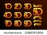 set of anniversary pictogram... | Shutterstock .eps vector #1088391806