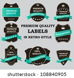 vector best seller label with... | Shutterstock .eps vector #108840905