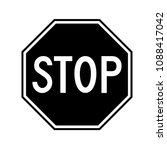 black stop sign. transparent | Shutterstock .eps vector #1088417042