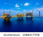 offshore oil and gas production ... | Shutterstock . vector #1088417558
