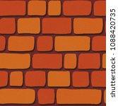 seamless pattern with bricks.... | Shutterstock . vector #1088420735