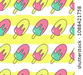 ice cream. seamless pattern. | Shutterstock .eps vector #1088421758