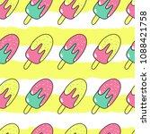 ice cream. seamless pattern. | Shutterstock .eps vector #1088421758