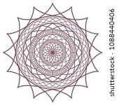 circular intricate mandala... | Shutterstock .eps vector #1088440406