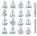 anchor set. vector | Shutterstock .eps vector #1088442515