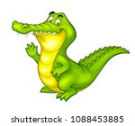 vector happy fun crocodile... | Shutterstock .eps vector #1088453885