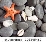 Orange Five Pointed Starfish On ...
